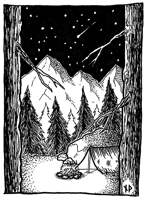 Campsite in the Crag Forest