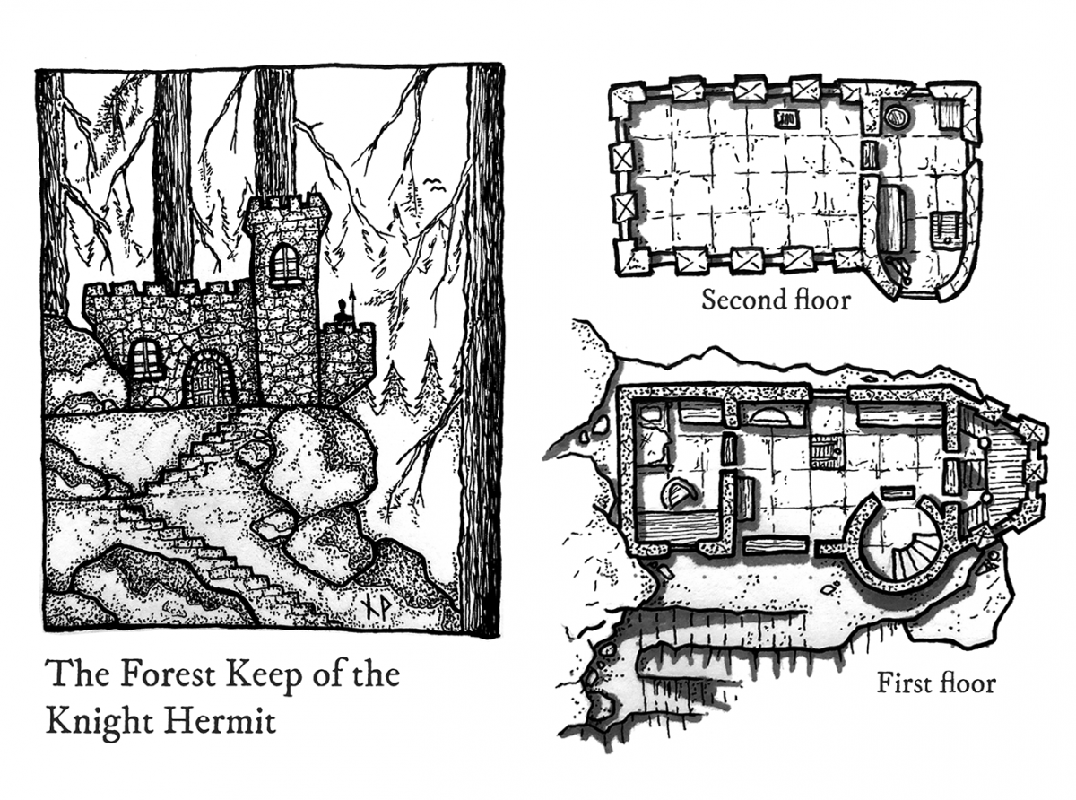 Forest keep of the Knight Hermit