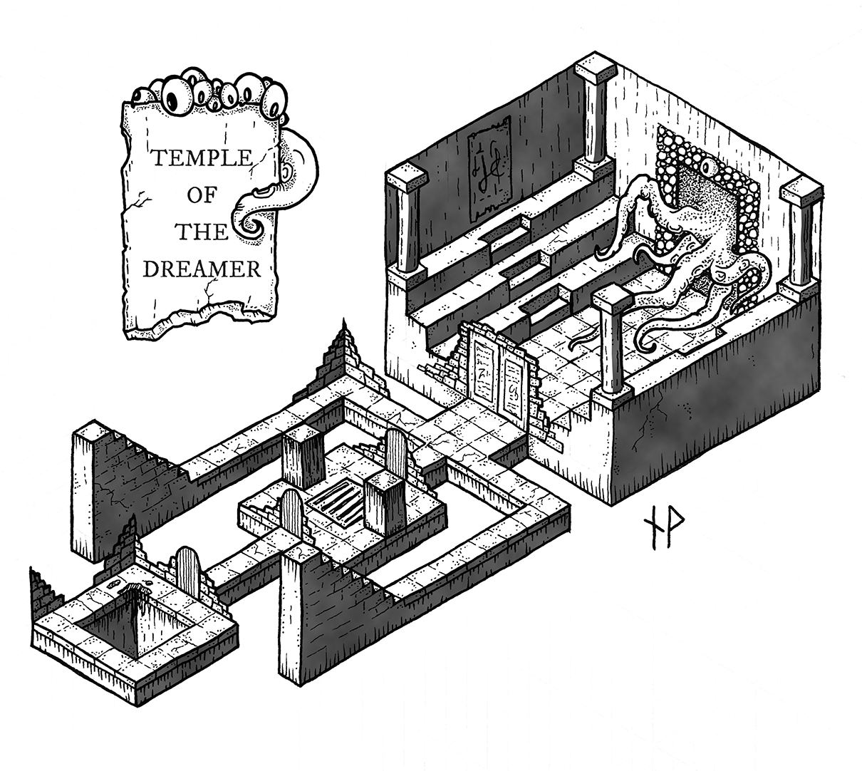 Temple of the Dreamer isometric map