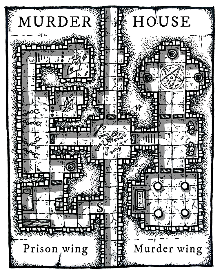 MURDER HOUSE – fantasy/horror dungeon map