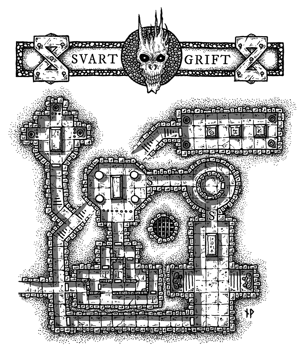 SVART GRIFT – ancient tomb dungeon map
