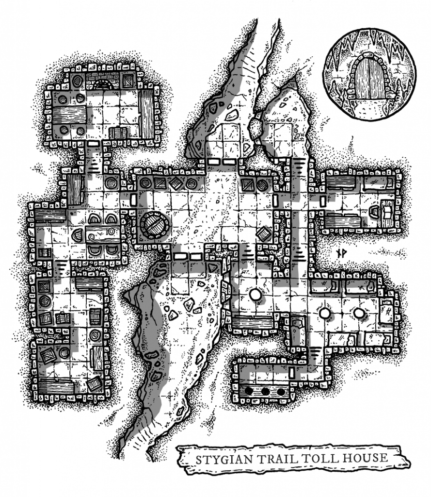 Map of an underdark tollhouse