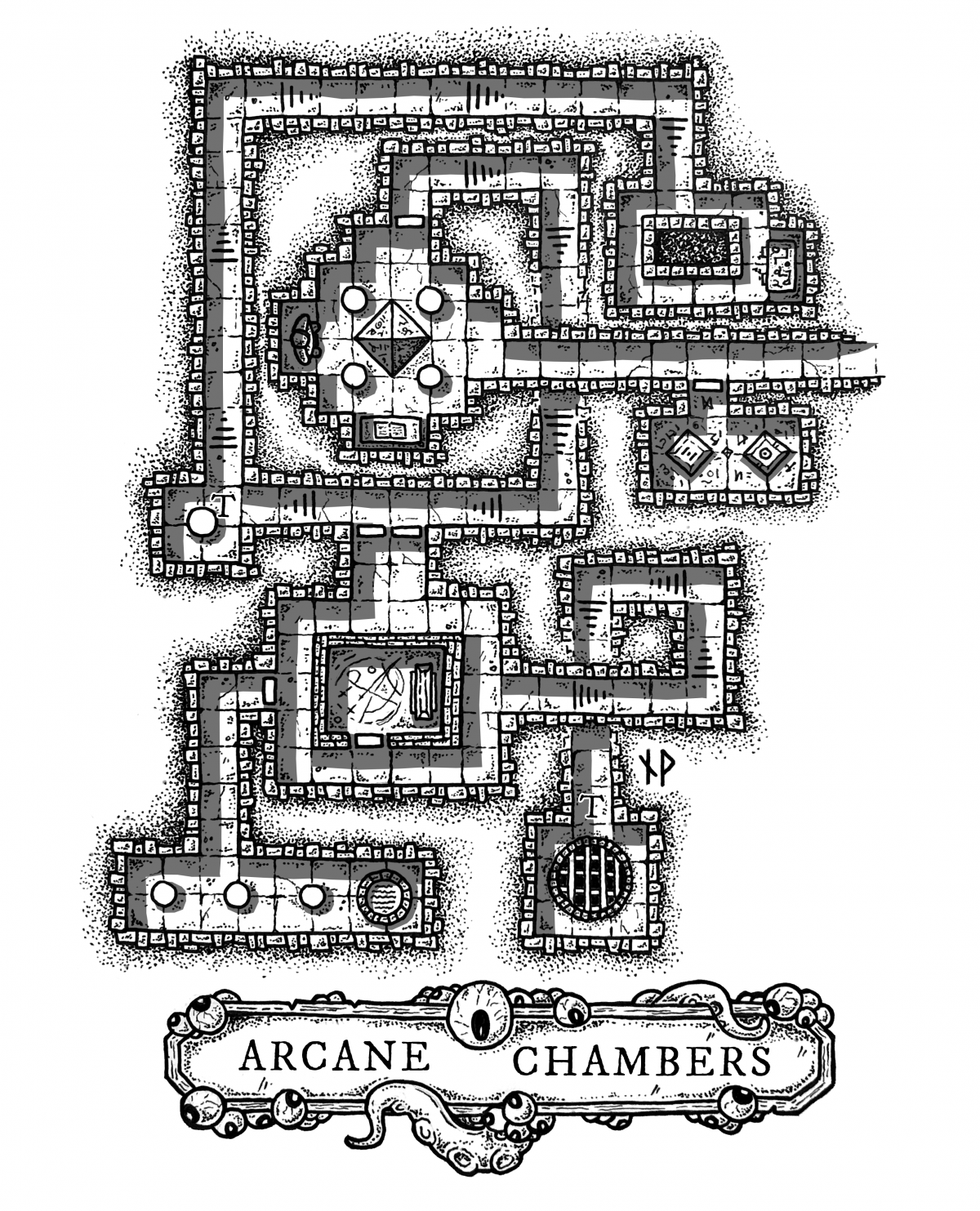 Arcane Chambers Dungeon Map